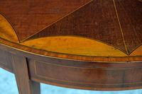 Fine Quality Edwardian Mahogany & Satinwood Inlaid Oval Occasional Table / Lamp Table / Wine Table c.1910 (6 of 6)