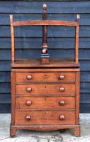 Exceptional & Unusual Small Proportioned Georgian Oak Chest with Press Top c.1820 (9 of 9)