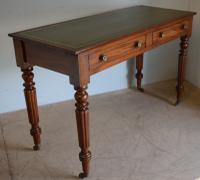 Mahogany 2 Drawer Writing Table c.1850 (3 of 5)