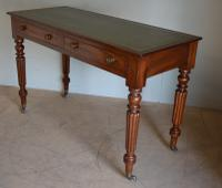 Mahogany 2 Drawer Writing Table c.1850 (4 of 5)