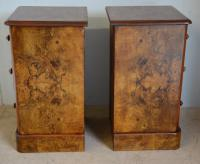 Pair of Burr Walnut Bedside Chest (2 of 5)