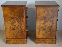 Pair of Burr Walnut Bedside Chest (3 of 5)