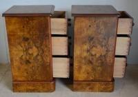 Pair of Burr Walnut Bedside Chest (4 of 5)