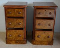 Pair of Burr Walnut Bedside Chest (5 of 5)