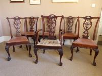 A Set of Six (5+1) Mahogany Chippendale Style Chairs