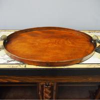 George III Mahogany Oval Tray