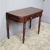 George IV Scottish Mahogany Fold-over Tea Table
