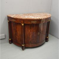 French Empire Mahogany & Marble Side Cabinet c.1850