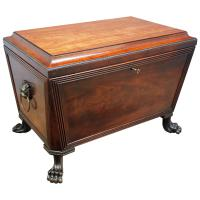 Scottish Mahogany Sarcophagus Wine Cooler c.1810