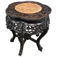 Chinese Marble Top Plant Stand c.1890