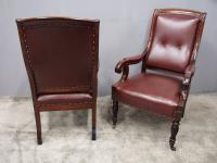 Pair of William IV Mahogany Library Chairs (10 of 13)