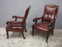 Pair of William IV Mahogany Library Chairs (11 of 13)