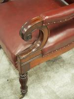 Pair of William IV Mahogany Library Chairs (12 of 13)