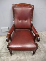 Pair of William IV Mahogany Library Chairs (13 of 13)