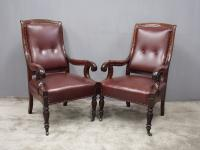 Pair of William IV Mahogany Library Chairs (2 of 13)