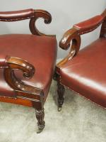 Pair of William IV Mahogany Library Chairs (9 of 13)