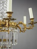 Victorian Cut Crystal Tent & Bag Chandelier (9 of 12)