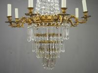 Victorian Cut Crystal Tent & Bag Chandelier (11 of 12)