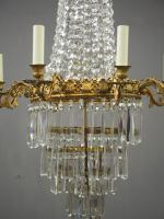 Victorian Cut Crystal Tent & Bag Chandelier (2 of 12)