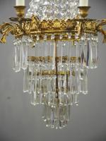 Victorian Cut Crystal Tent & Bag Chandelier (3 of 12)