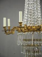 Victorian Cut Crystal Tent & Bag Chandelier (12 of 12)