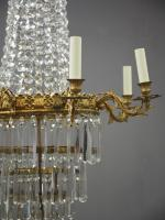 Victorian Cut Crystal Tent & Bag Chandelier (4 of 12)