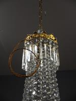 Victorian Cut Crystal Tent & Bag Chandelier (5 of 12)