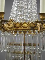 Victorian Cut Crystal Tent & Bag Chandelier (7 of 12)
