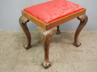 Chippendale Style Mahogany Stool c.1900 (2 of 6)