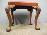 Chippendale Style Mahogany Stool c.1900 (4 of 6)