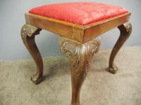 Chippendale Style Mahogany Stool c.1900 (6 of 6)