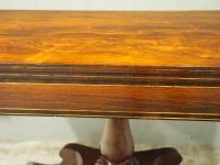 Regency Brass Inlaid Rosewood Tea Table (5 of 11)
