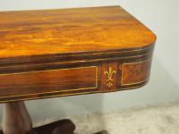 Regency Brass Inlaid Rosewood Tea Table (6 of 11)