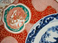 Matched Pair of Imari Chargers on Stands (10 of 12)