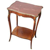 French Marble Two Tier Table c.1880 (2 of 10)