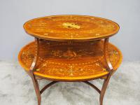 Adams Style Inlaid Mahogany Etagere C.1890 (4 of 12)