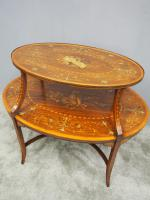 Adams Style Inlaid Mahogany Etagere C.1890 (5 of 12)