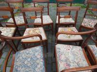 Set of 10 George III Inlaid Mahogany Dining Chairs (10 of 11)