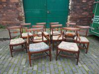 Set of 10 George III Inlaid Mahogany Dining Chairs (2 of 11)