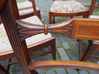 Set of 10 George III Inlaid Mahogany Dining Chairs (3 of 11)