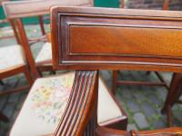 Set of 10 George III Inlaid Mahogany Dining Chairs (4 of 11)