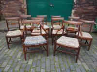 Set of 10 George III Inlaid Mahogany Dining Chairs (5 of 11)