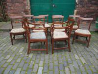 Set of 10 George III Inlaid Mahogany Dining Chairs (6 of 11)