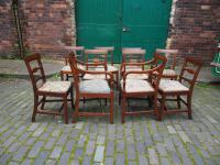 Set of 10 George III Inlaid Mahogany Dining Chairs (7 of 11)