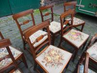 Set of 10 George III Inlaid Mahogany Dining Chairs (9 of 11)