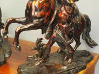 Pair of Cast Bronze Marly Horses after J Coustou (7 of 13)