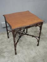 Chippendale Style Mahogany Occasional Table c.1900 (4 of 8)