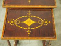 Sheraton Style Inlaid Mahogany Nest of Tables c.1900 (10 of 14)
