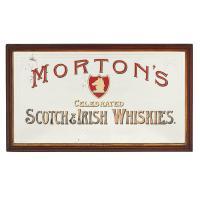 Scottish Victorian Pub Mirror for Mortons Whiskies