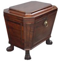 Georgian Mahogany Sarcophagus Wine Cooler